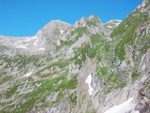 Photo: Col Faustin et Le valier Blanc depuis l'Etang long