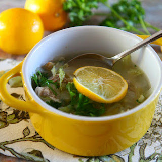 Lemony Chicken and Cabbage Soup Over Quinoa Recipe