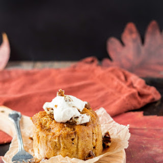 Pumpkin Butterscotch Angel Food Pudding