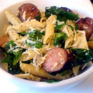 Spinach and Sausage Pasta.