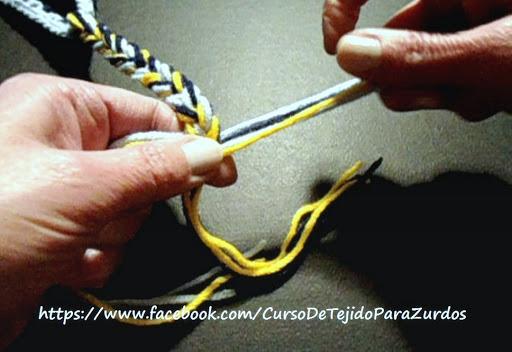 trenzas para el gorro lechucita tejido al crochet ganchillo para zurdos