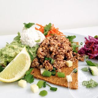 Raw Tacos with Walnut Meat and Cashew Sour Cream | Vegan, Raw, Gluten-Free Recipe