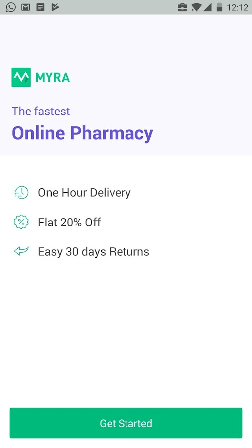 Myra Medicines - Delivery in 60 minutes- screenshot