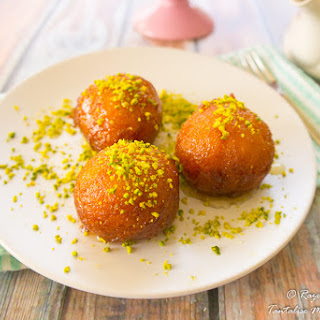 Cardamom Bollas with Saffron Syrup.
