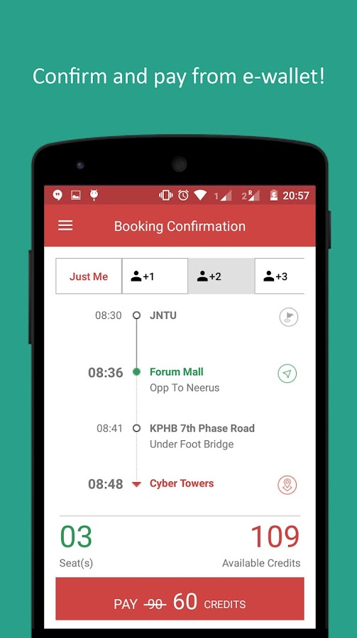 Cabs app: Commute in Hyderabad- screenshot