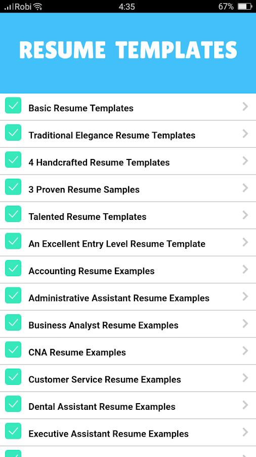 resume templates 2018 screenshot - Resume Examples 2018