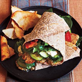 Tempeh Greek Salad Wraps