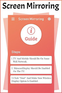 Screen Mirroring TV :Cast phone screen to samsngTV for PC