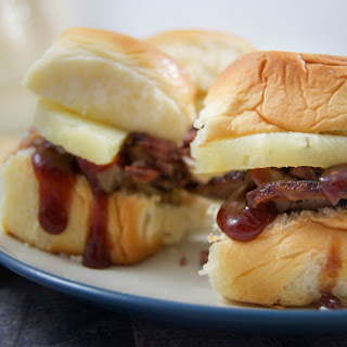 Hawaiian BBQ Brisket Sliders