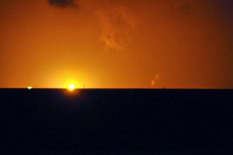 Photo: oil fire on sea