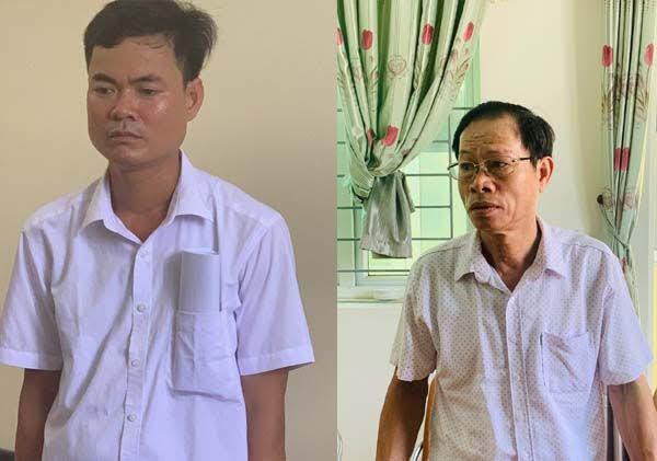 02 đối tượng Bùi Ngọc Châu (trái) và Trương Thanh Thụ