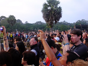 Photo: Crowd waiting for sunrise