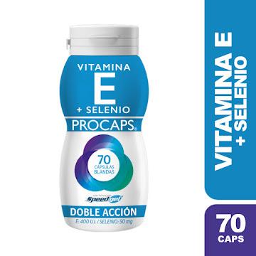 Vitamina E + Selenio   Frasco X 70 Capsulas Procaps