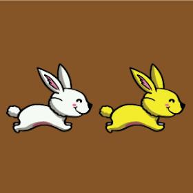 Make All Same Color - rabbits