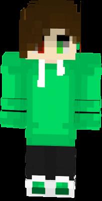 creeper boy green brownhair