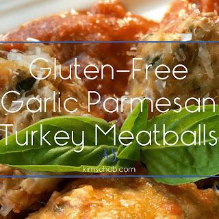 Gluten-free Garlic-parmesan Turkey Meatballs.