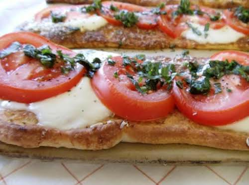 "Caprese Pizzas Recipe ""This is so yummy!!! Light, flavorful and makes you coming..."