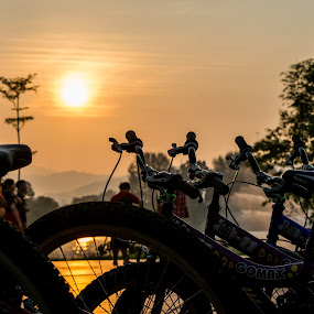 Bicycles by Loh Jiann - Transportation Bicycles ( titiwangsa, vehicle, sunrise, transportation, bicycle,  )