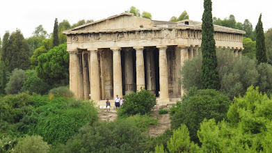 Photo: Temple of Hephaestus. Possibly the best preserved ancient Greek temple in Athens. And apparently the model for about one-half of all government and bank buildings in the U.S.
