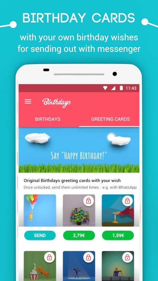 Birthdays - Reminder, Calendar & Greeting Cards- screenshot