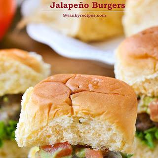 Mozzarella Stuffed Jalapeño Burgers