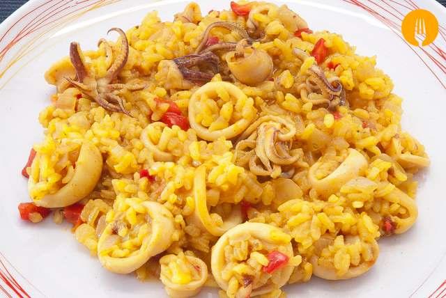 receta arroz calamares