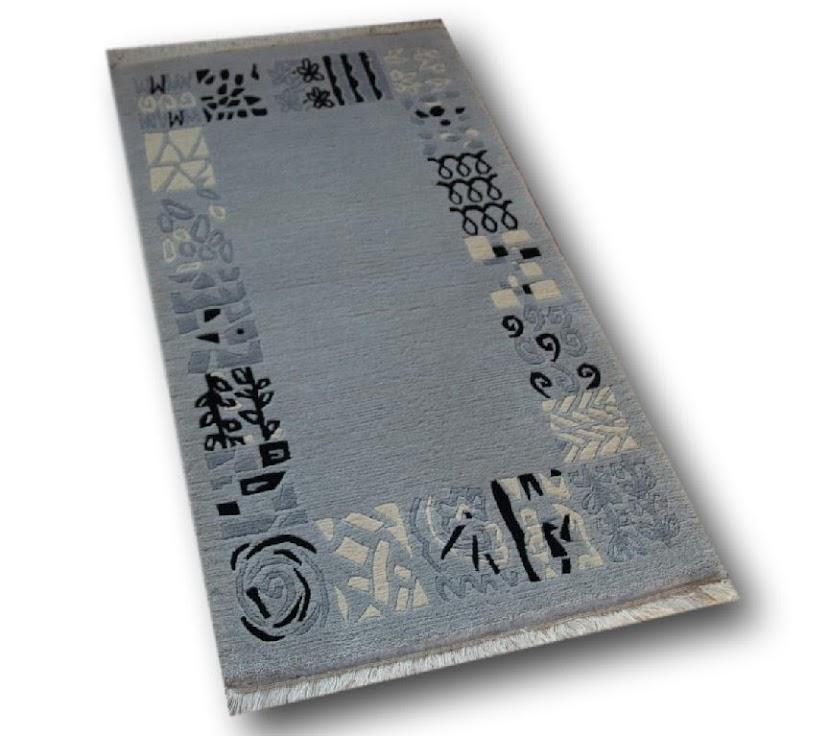 dywan nepal fein 100% wełna 70x140cm szary