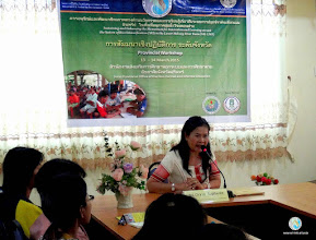 Photo: Opening session by Ms. Orasa Supharee , Director, Tha Tum district, Surin Provincial Office of the Non-Formal and Informal Education