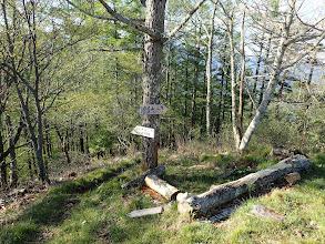 稜線沿いを進む(左に守屋神社コース)