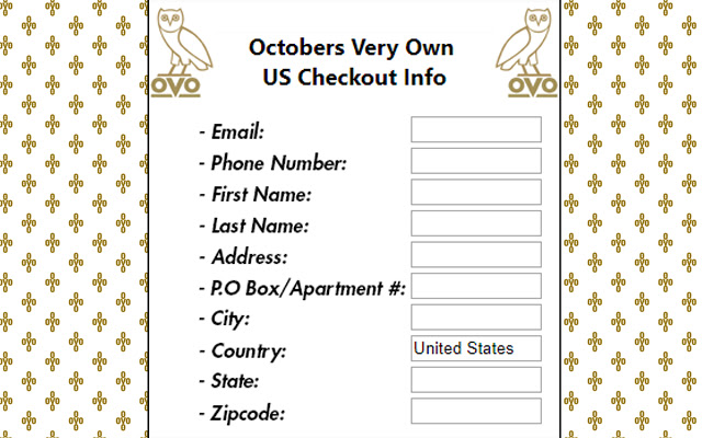 Octobers Very Own Checkout Autofiller