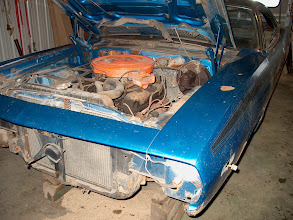 Photo: 1972 Plymouth Cuda 340 engine before restoration begins