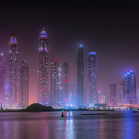 Dubai, shot taken from the palm by Henk Smit - City,  Street & Park  Skylines