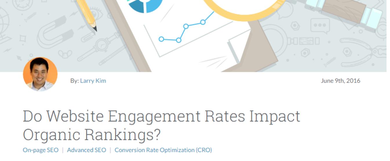 Les taux d'engagement du site Web ont-ils un impact sur les classements organiques? exemple d'article de blog