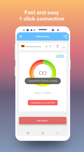 VPN Germany - Free and fast VPN connection 1.18 screenshots 1