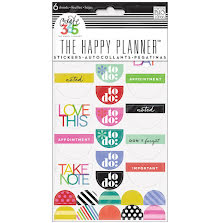 Me & My Big Ideas Create 365 Stickers 6 Sheets/Pkg - Good Day Brights