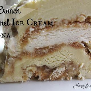 Butter Crunch & Caramel Ice Cream Lasagna.
