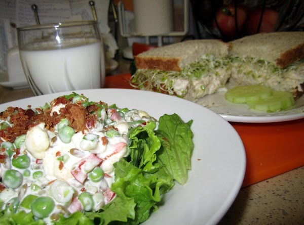 I made this with Rose Mary's salad (pictured) and delish! But also goes well...