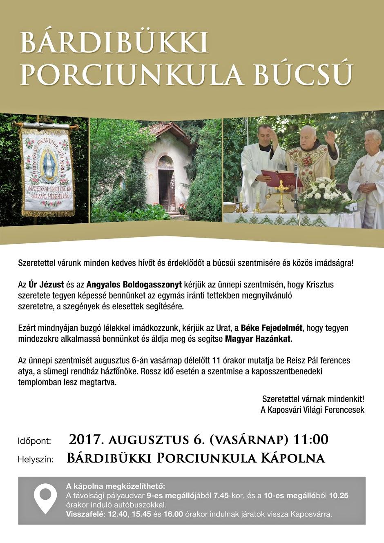 Bárdibükki Porcinkula Búcsú 2017