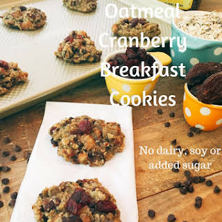 Protein Packed Oatmeal Cranberry Breakfast Cookies.