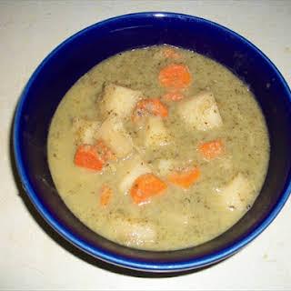 Excellent Vegan Microgreen Soup.