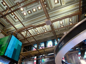 Photo: Pipes under the roof of the NYSE.