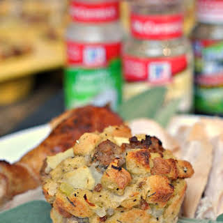 Sausage, Apple, and Sage Stuffing Muffins.