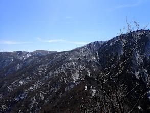 静ヶ岳(右)と竜ヶ岳(左奥)