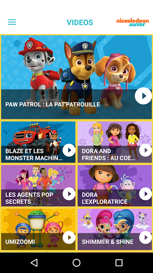 Nickelodeon junior applications android sur google play - Jeux de nick junior ...