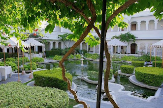 Photo: Jardins du Lake Palace à Udaïpur au Rajasthan