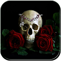 Red Rose Skull Theme icon