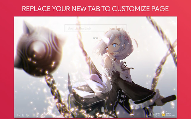 Re Zero Anime Wallpaper HD Custom New Tab