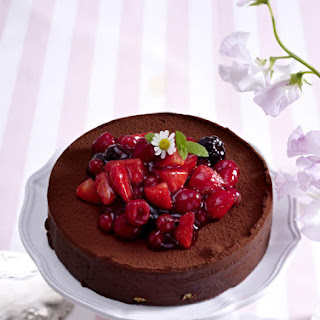 Chocolate Tiramisu with Mixed Berries