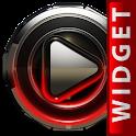 Poweramp skin widget Red Glow icon