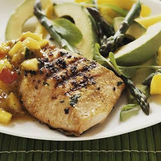 Grilled Salmon with Fresh Mango Salsa.